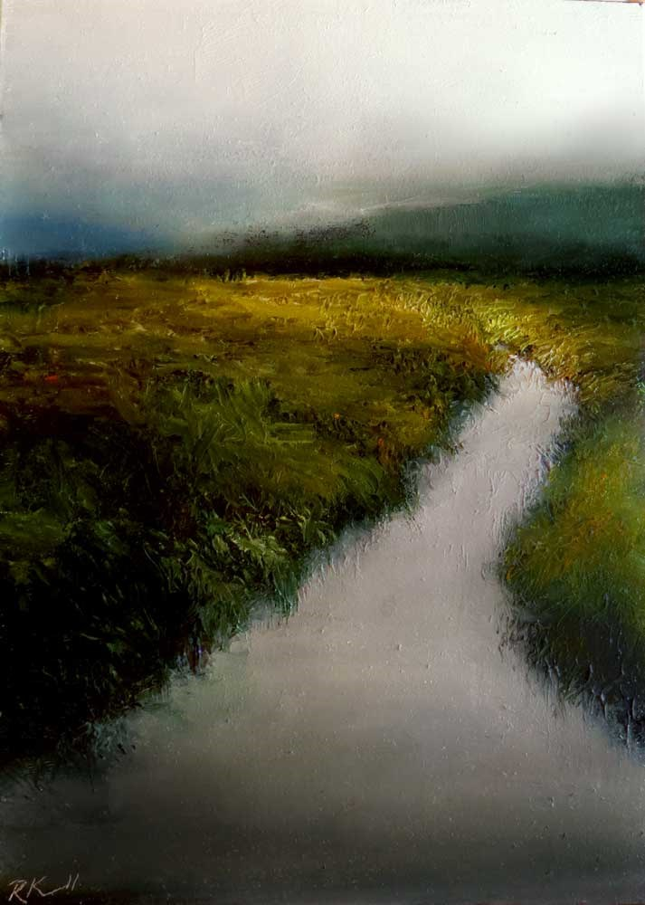 """Wetlands River"" original fine art by Bob Kimball"