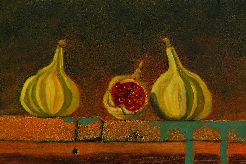 """Tiger Figs"" original fine art by Sharon Egan"