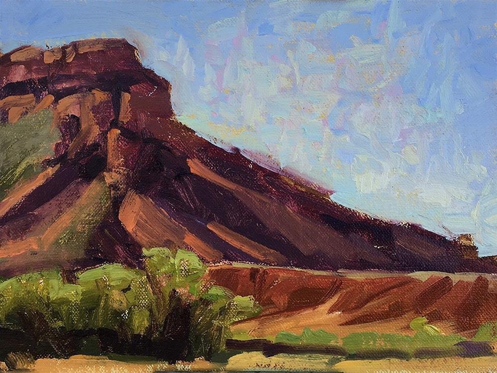 """Ghost Ranch plein air"" original fine art by Miriam Hill"