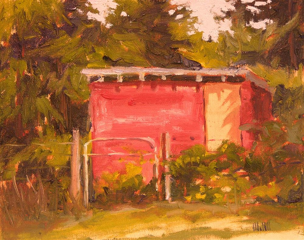 """""""Old Chicken House"""" original fine art by Mary McInnis"""