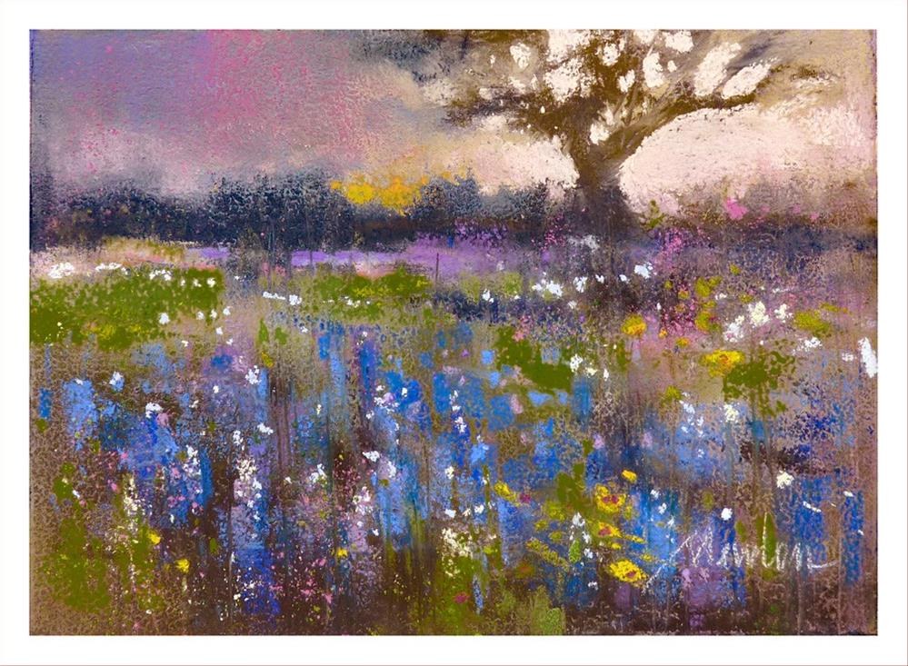 """Texas Blue"" original fine art by Barbara Benedetti Newton"