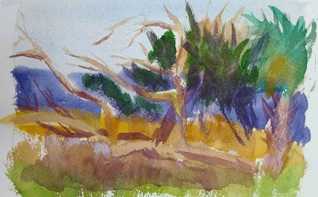 """""""My Latest Watercolor Painting"""" original fine art by Maria Peagler"""
