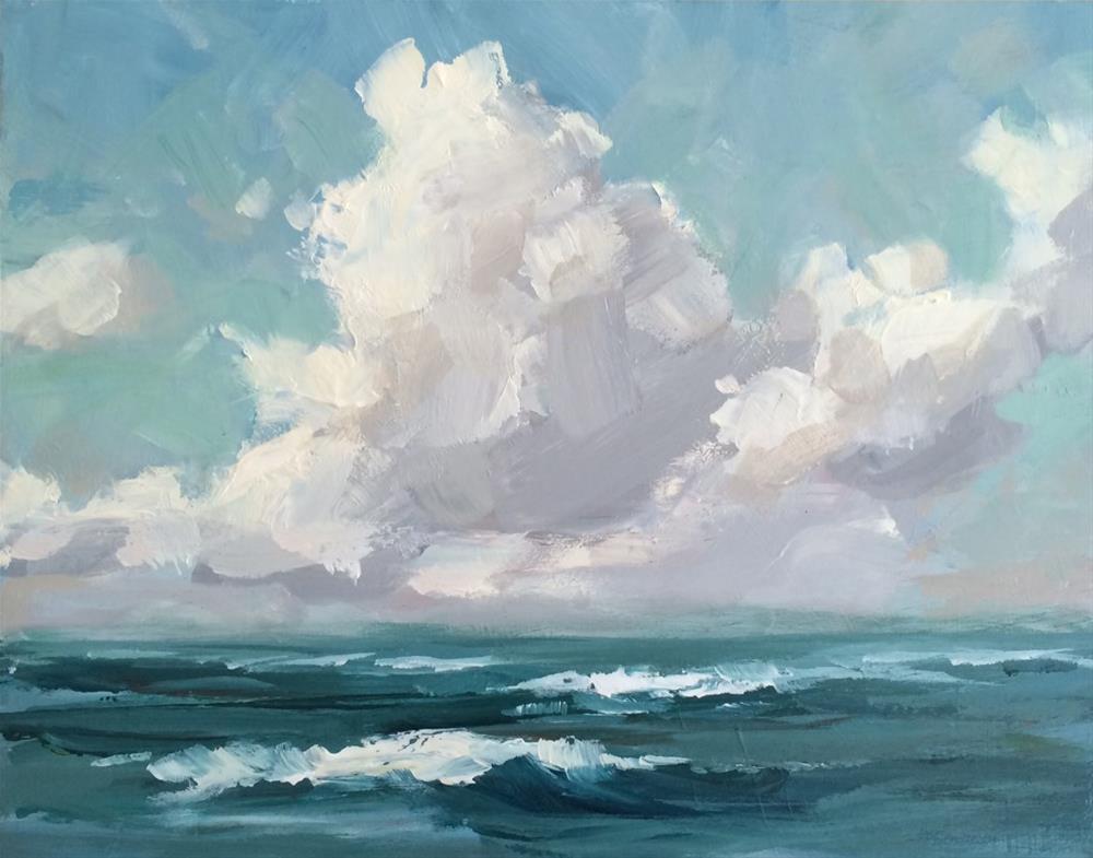 """Summer at the Beach"" original fine art by Shannon Bauer"