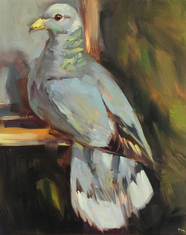 """P is for Pigeon"" original fine art by Patti McNutt"