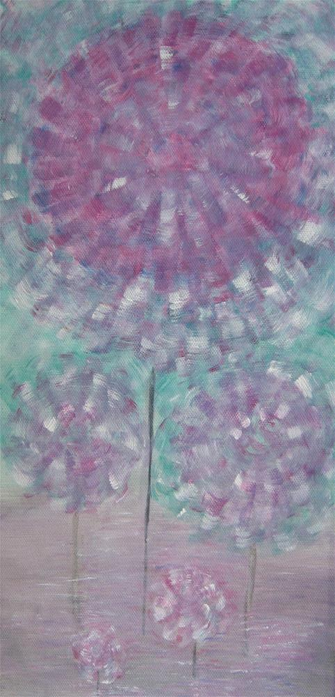"""Abstract Flowers"" original fine art by Alina Frent"