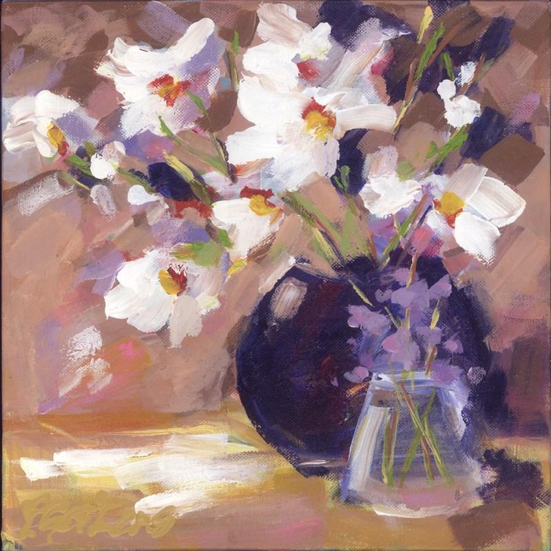 """Purple Pot Poppies"" original fine art by Pamela Gatens"