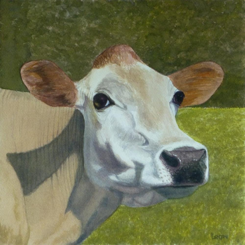 """Cow Series 1: Milk Dignity"" original fine art by Peter Lentini"