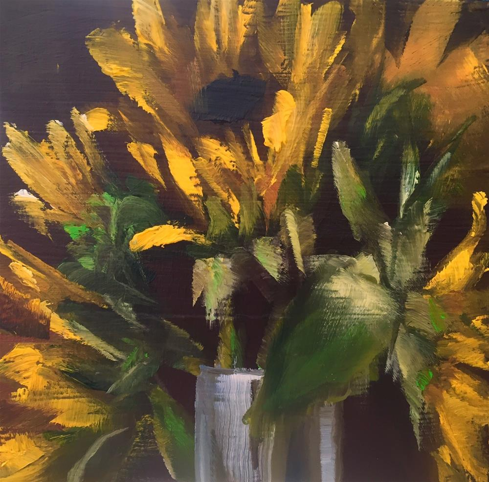 """Sunflower Bouquet"" original fine art by Gary Bruton"
