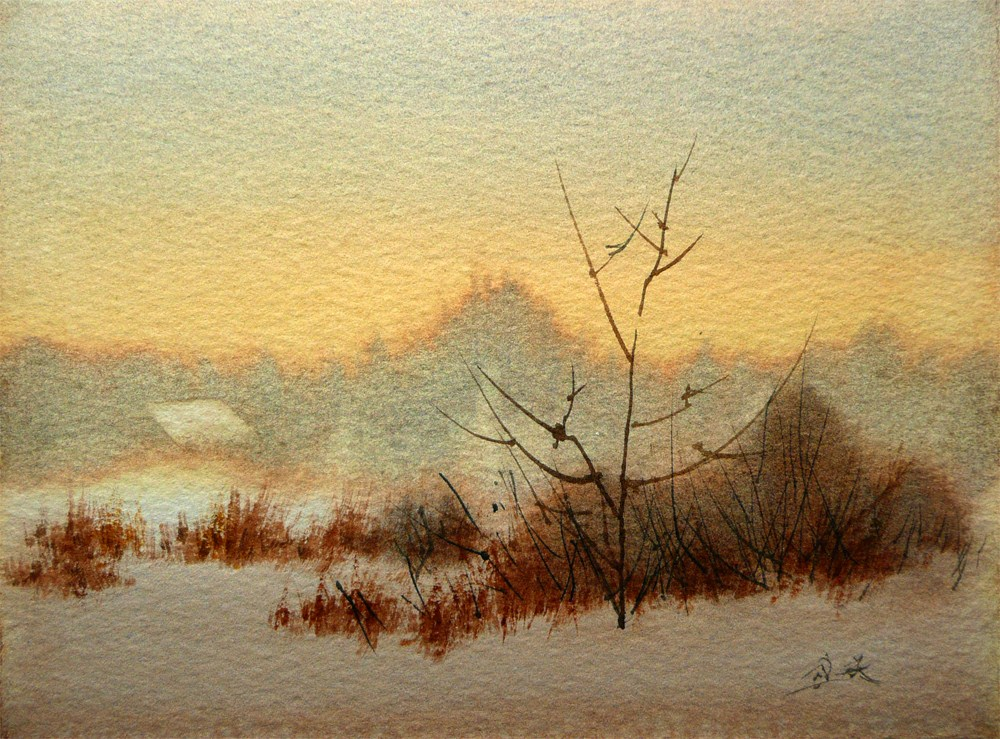 """Winter Light"" original fine art by Arena Shawn"
