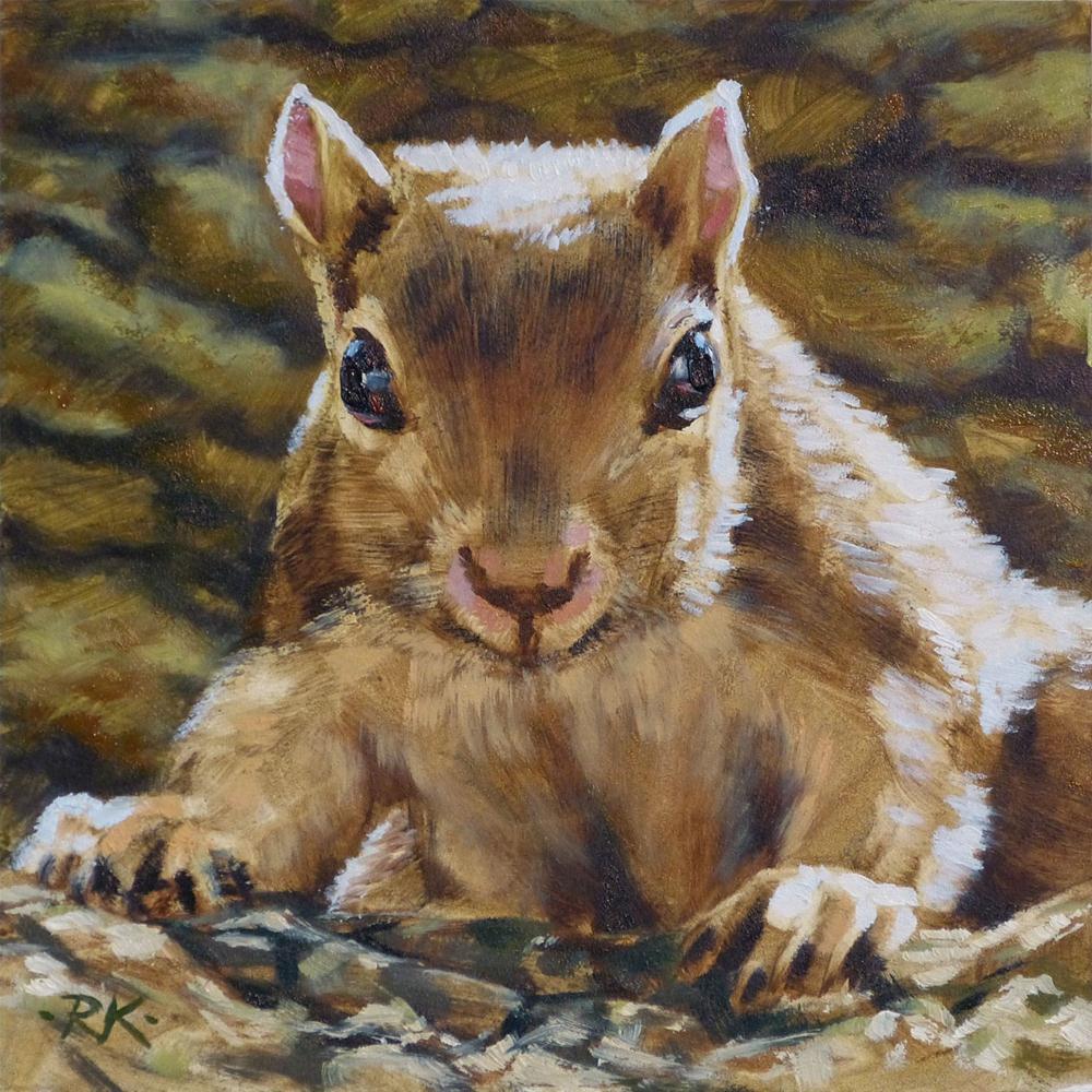 """Squirrel"" original fine art by Rita Kirkman"