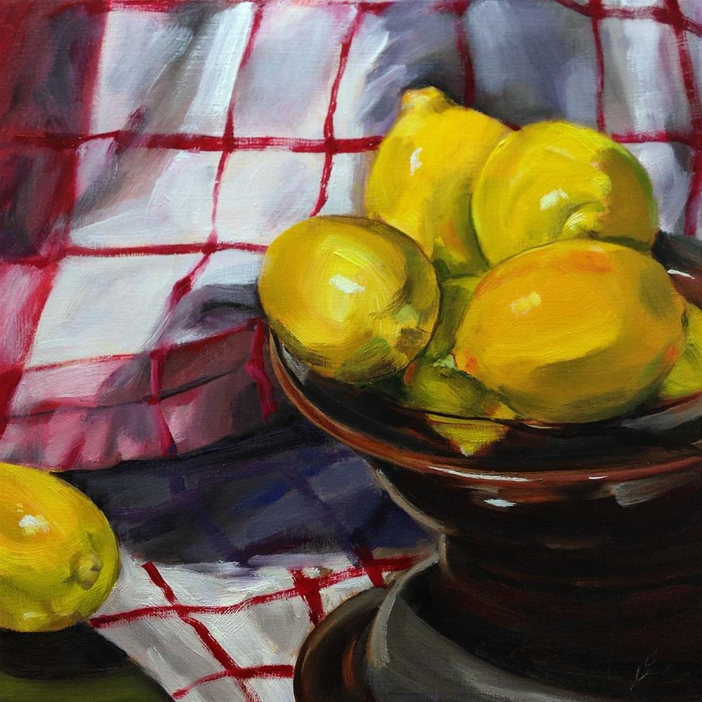 """Meyer Lemons"" original fine art by Linda Lowery"