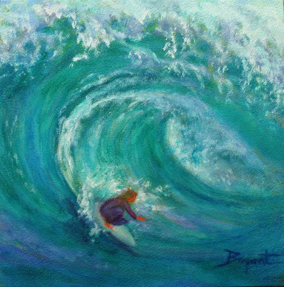 """""""Curl In Motion"""" original fine art by Debra Bryant"""