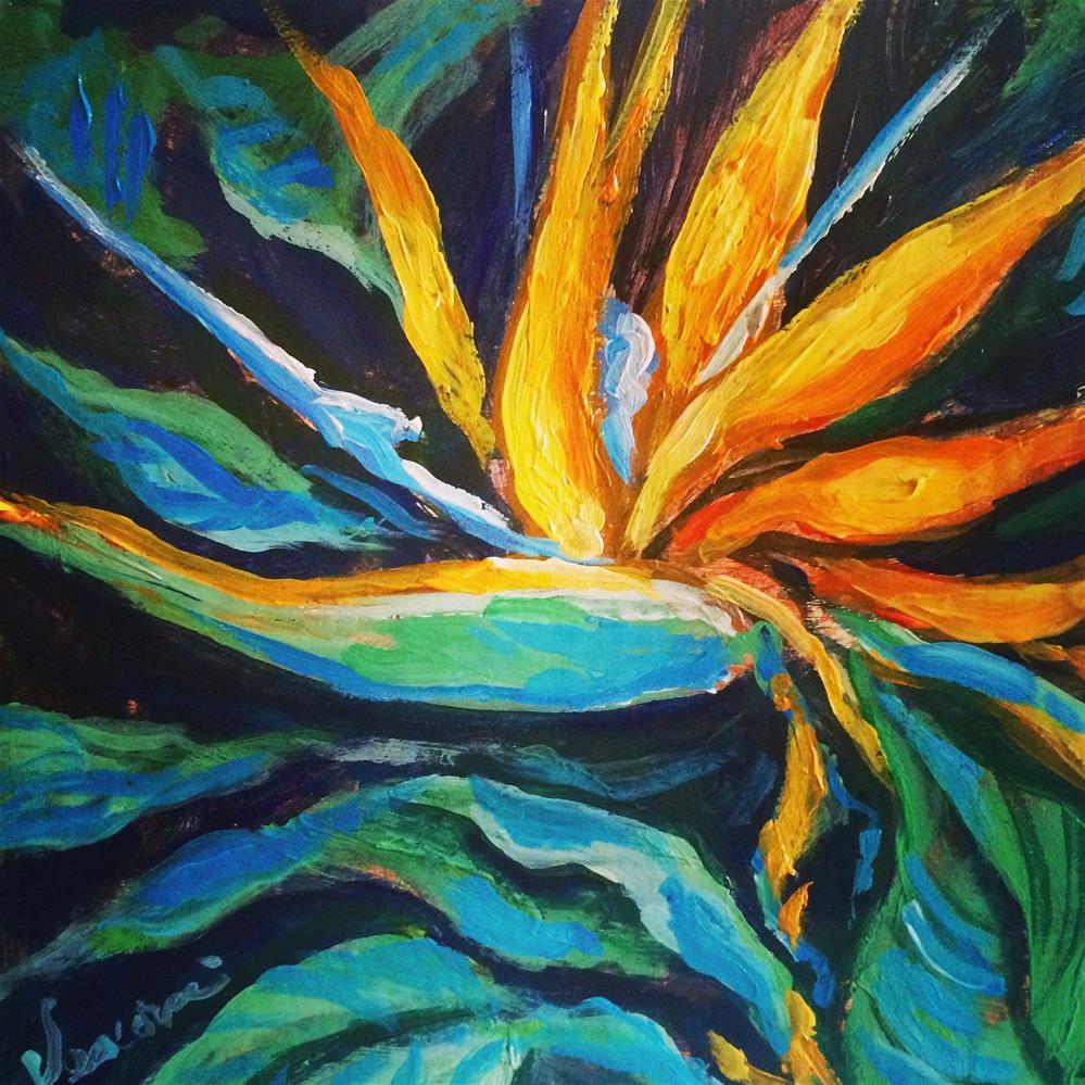 """Bird of Paradise"" original fine art by Valerie Vescovi"