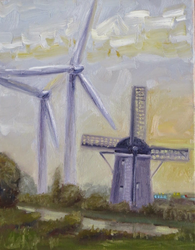 """Tilting at Windmills"" original fine art by Richard Kiehn"