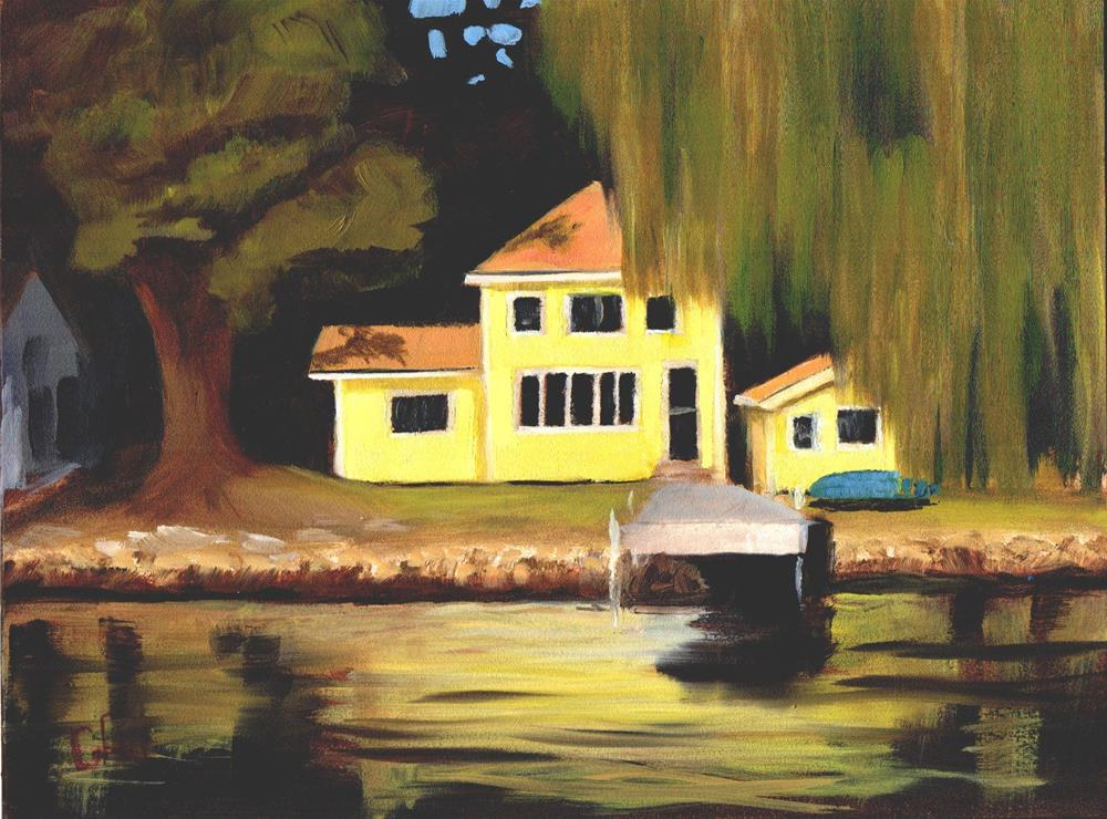 """Cottage on the Bay"" original fine art by Gary Westlake"