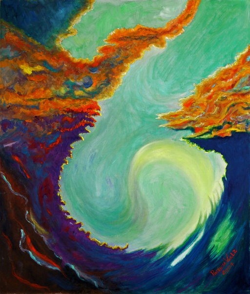 """Ice, Wind, Fire"" original fine art by Patricia Voelz"