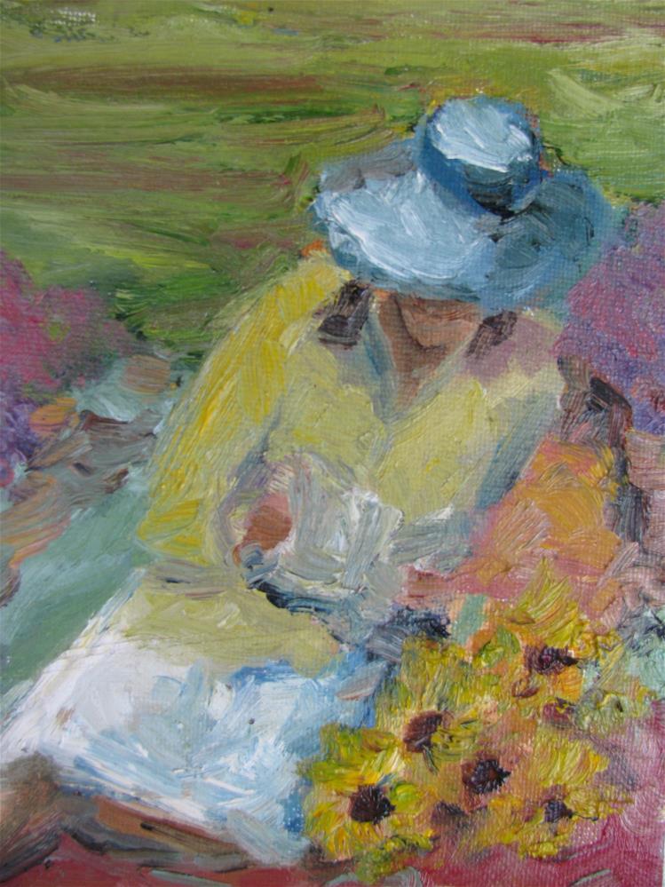 """Reclining with Book"" original fine art by Susan Elizabeth Jones"