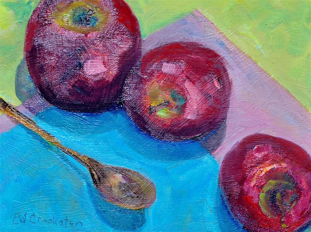 """Apple Ramble"" original fine art by Catherine Crookston"