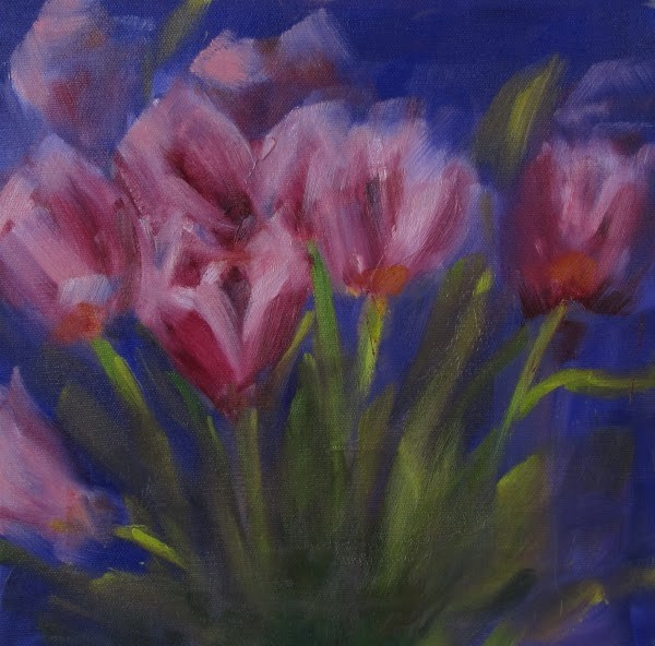 """Flowers by sound 3"" original fine art by Helen Moreda"