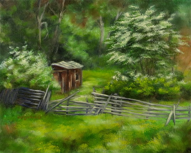 """Hidden Shack"" original fine art by Carol Zirkle"