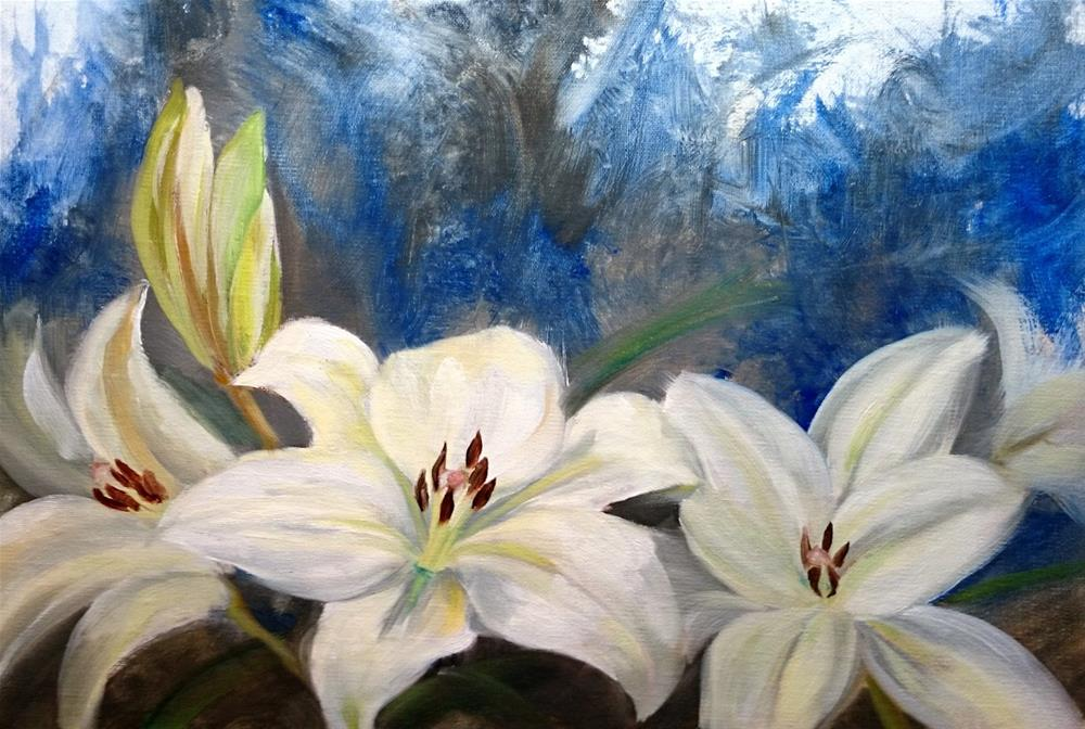 """White Lillies"" original fine art by Dalan Wells"
