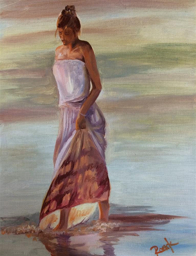 """""""Early Evening Walk"""" original fine art by Carol Roark"""
