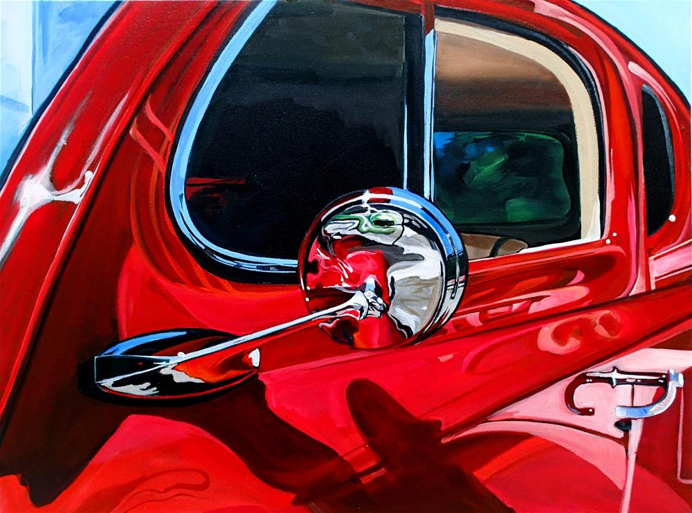 """Objects in Mirror ... are Losing"" original fine art by Lauren Kuhn"