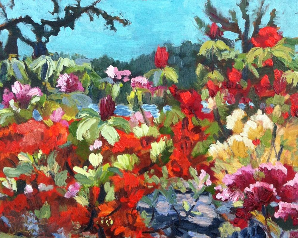 """Rodo Garden, oil on board, 8x10"" original fine art by Darlene Young"