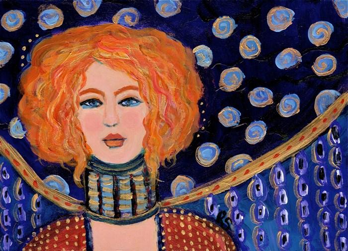 """""""Golden Hair"""" original fine art by Roberta Schmidt"""