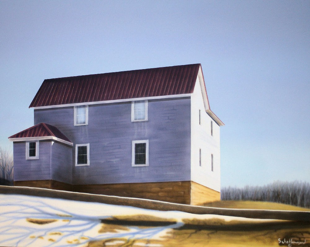 """House on the Edge of Town"" original fine art by Fred Schollmeyer"