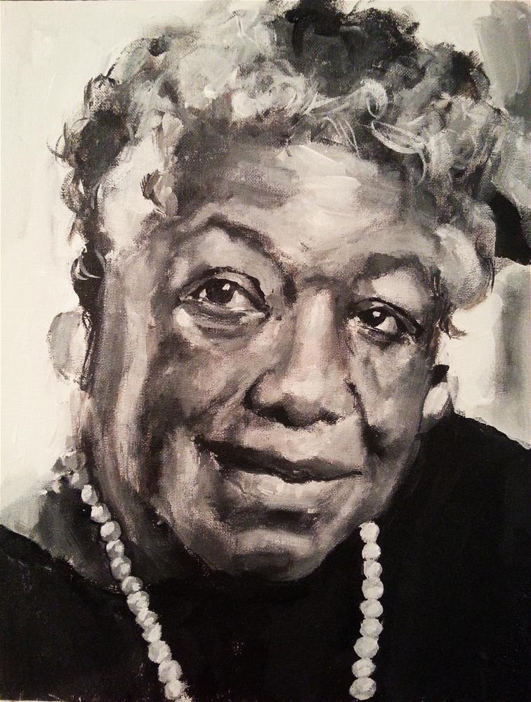 """Maya Angelou"" original fine art by Nava Judith"