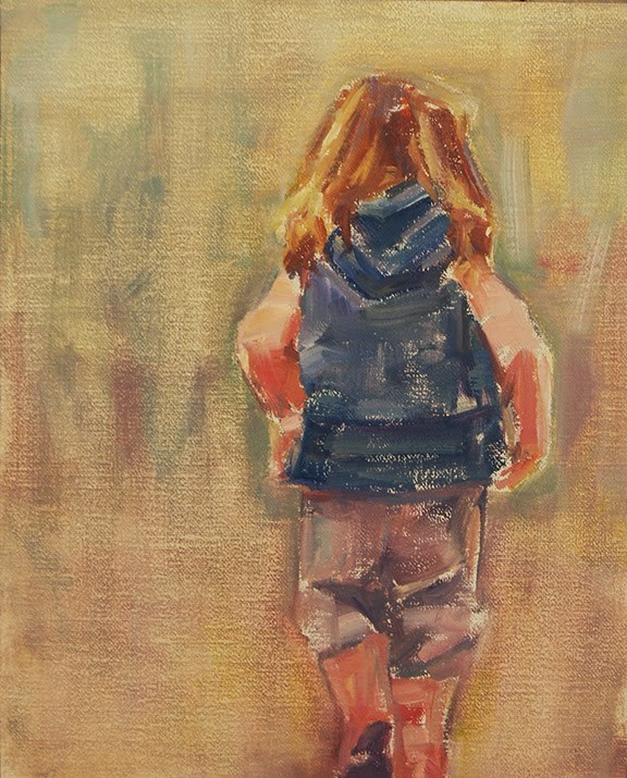 """Little Girl OIl Sketch - Original by Carol DeMumbrum"" original fine art by Carol DeMumbrum"