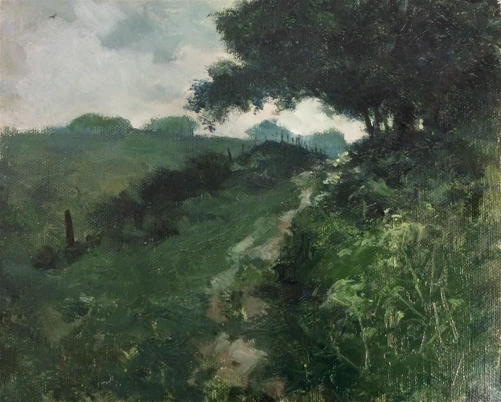 """Rainy Day Norfolk"" original fine art by John Shave"