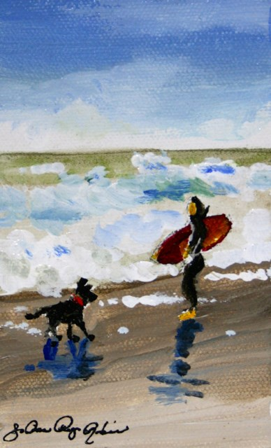 """Surf's Up"" original fine art by JoAnne Perez Robinson"