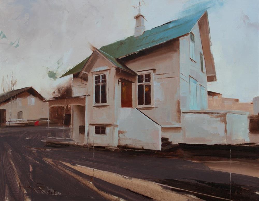 """""""Reykjavík (Stýrimannastígur)"""" original fine art by Thorgrimur Andri Einarsson"""