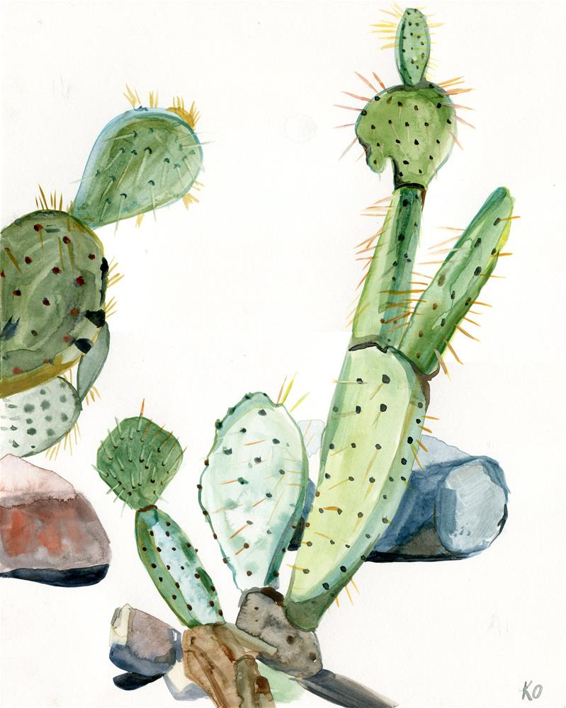 """Cactus at Papago Park"" original fine art by Katy O'Connor"