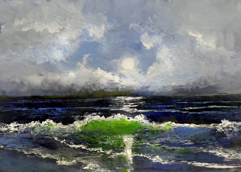 """Breaking Waves"" original fine art by Bob Kimball"