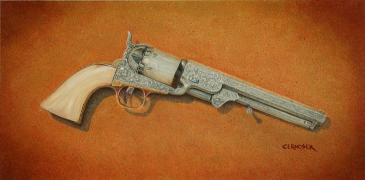"""1851 Colt Navy Revolver"" original fine art by Glenn Cernosek"