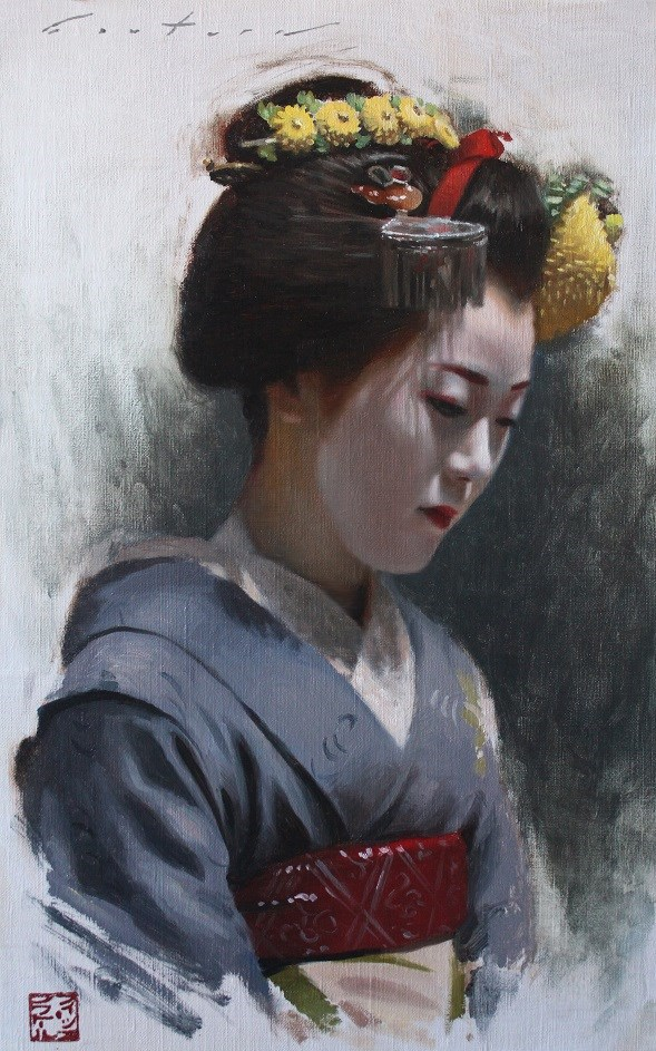"""Maiko Tomitae"" original fine art by Phil Couture"