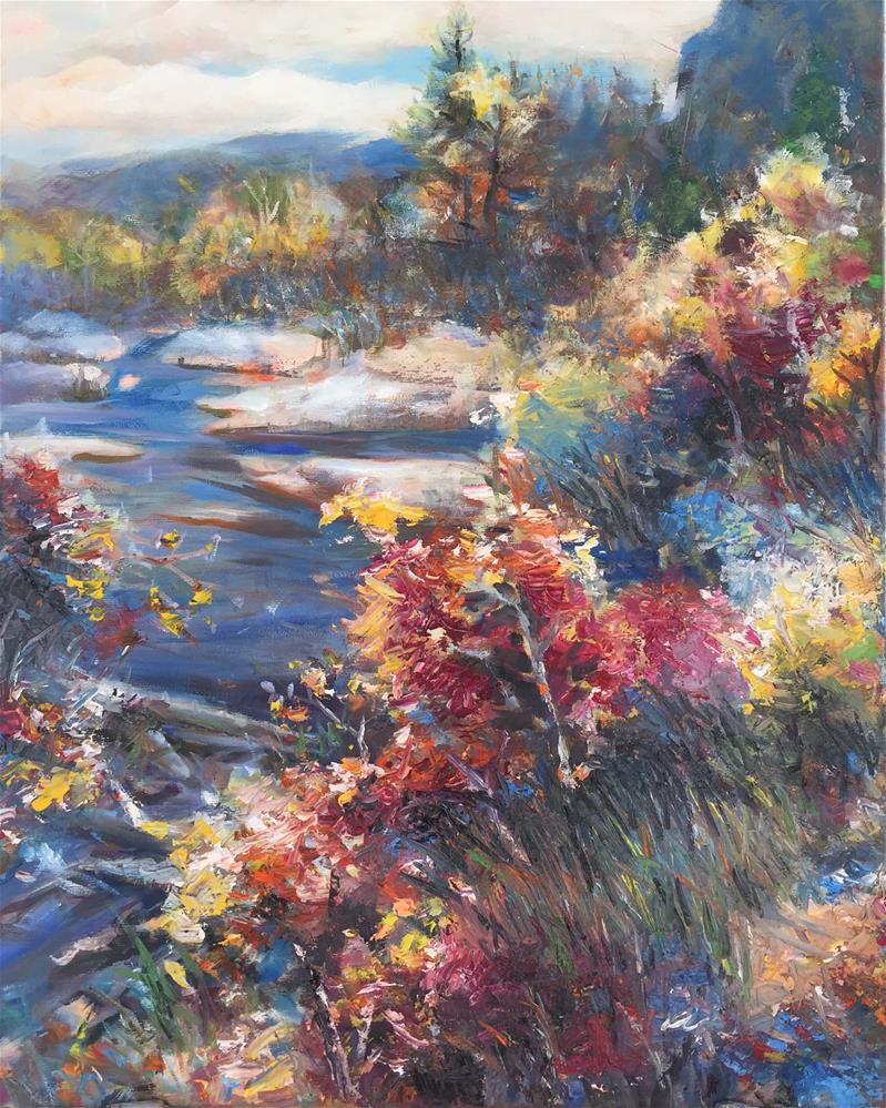 """fall color"" original fine art by Wenqing Xu"