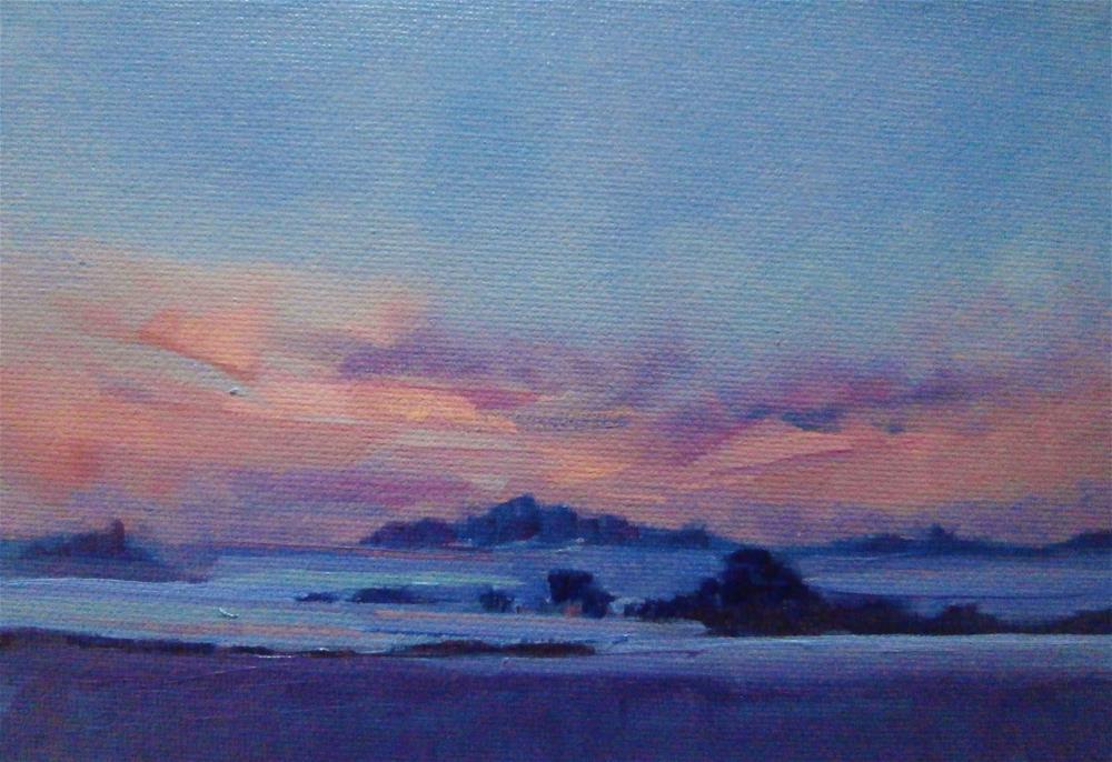 """Winter Violet"" original fine art by Anne Wood"