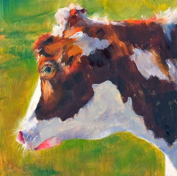 """Cows Are The Coolest!"" original fine art by Brenda Ferguson"