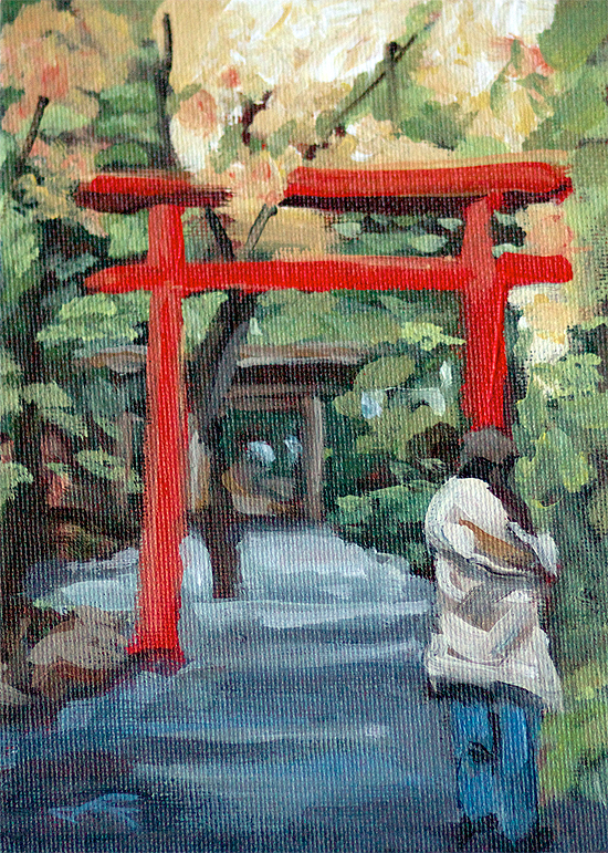 """Kyoto Gateway"" original fine art by J. Farnsworth"