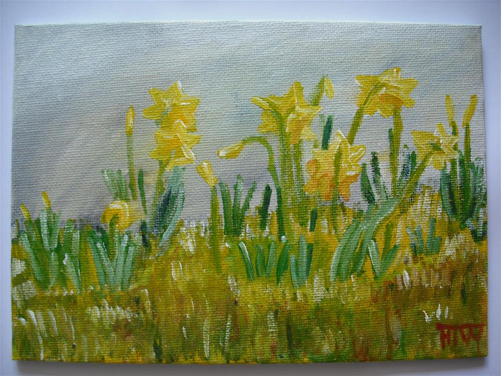"""Early Daffodils"" original fine art by Heather Whiting"