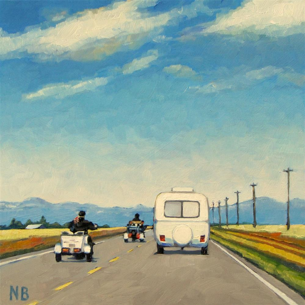 """Road Trippers"" original fine art by Nora Bergman"