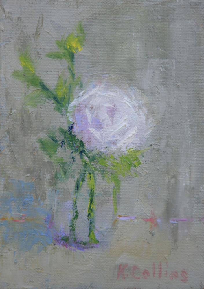 """Single Stem"" original fine art by Kathy Collins"