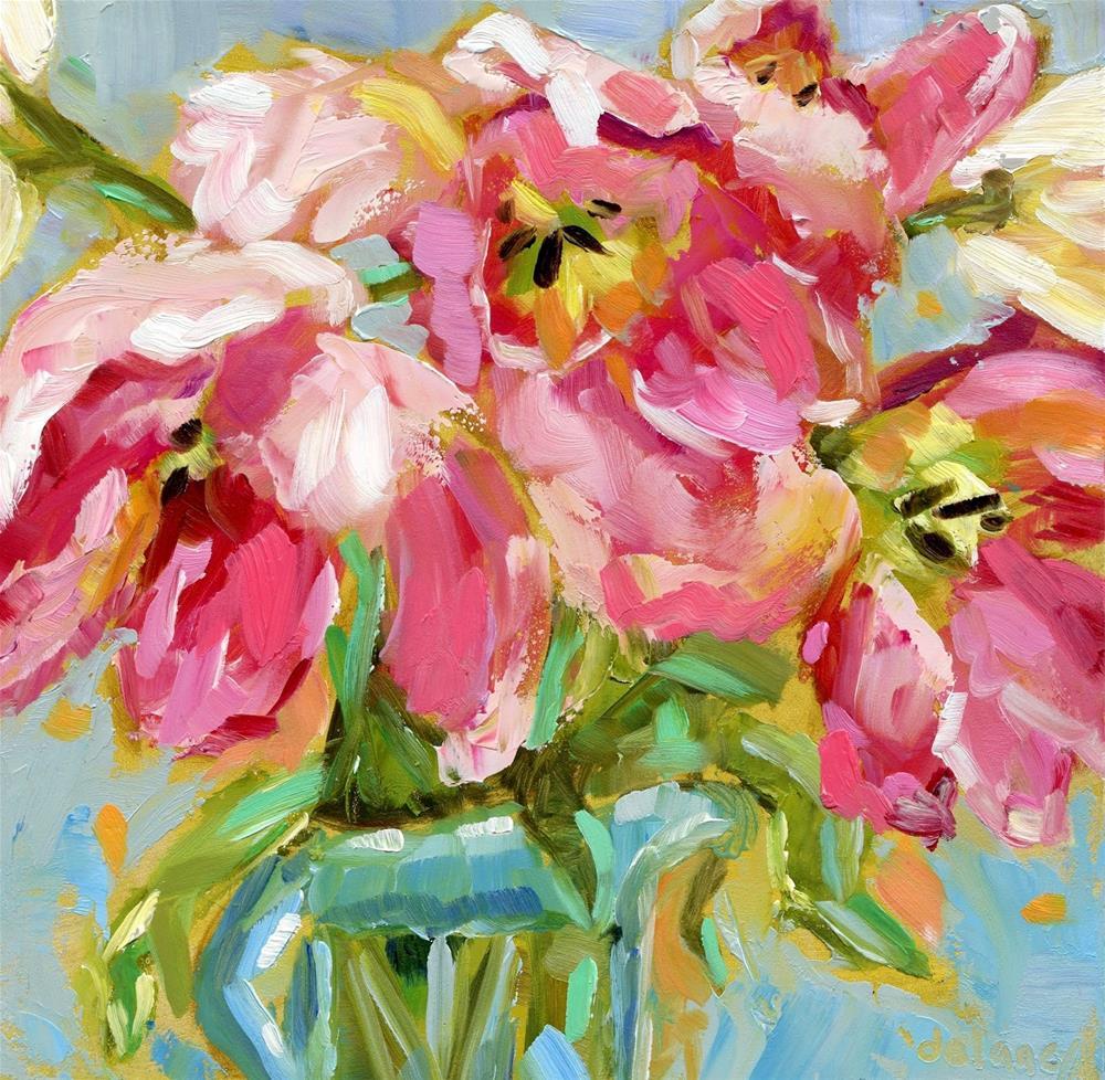 """""""TULIP BALLET"""" original fine art by Jean Delaney"""