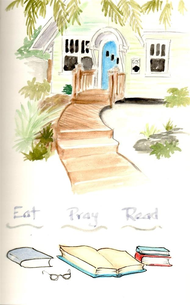 """Sketch Journal Entry: Paradise Found"" original fine art by Carmen Beecher"