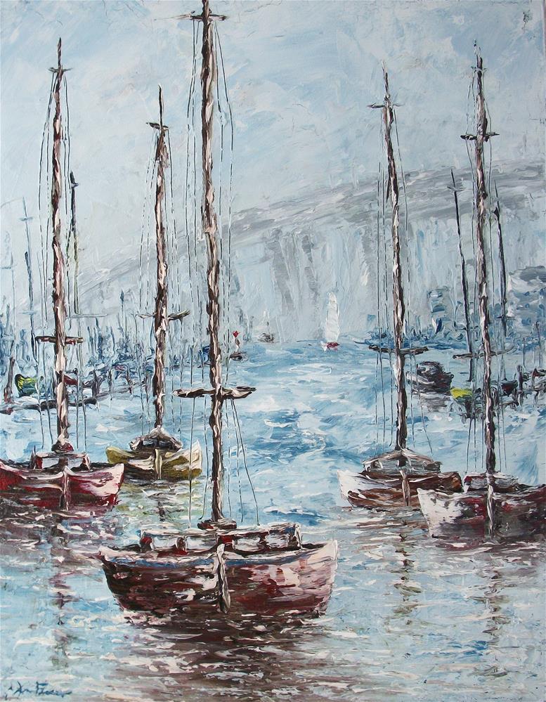 """Harbor Bridge"" original fine art by Ken Fraser"