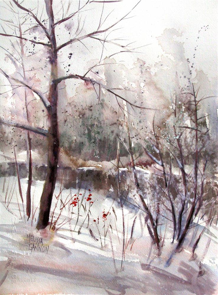 """Snowy Day"" original fine art by Melissa Gannon"